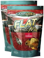 Прикормка рыболовная Carparea Карп Flat Method клубника / FLM-01-21 (2шт, 1.2кг) -