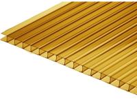 Сотовый поликарбонат КомфортПром Астра 2м 3.8мм (бронзовый) -