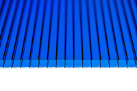 Сотовый поликарбонат КомфортПром Астра 2м 3.8мм (синий) -