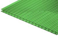 Сотовый поликарбонат КомфортПром Пион 2м 3.8мм (зеленый) -