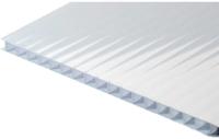 Сотовый поликарбонат КомфортПром Пион 2м 3.8мм (молочный) -