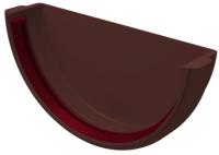Заглушка желоба Grand Line Универсальная ПВХ RAL 8017 (шоколадный) -