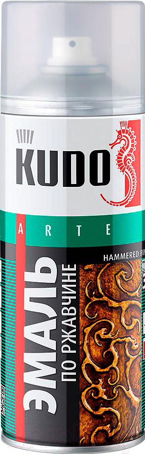 Купить Эмаль Kudo, Молотковая по ржавчине (520мл, серебристый), Россия