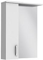 Шкаф с зеркалом для ванной Ювента БфШНЗ1-60 (белый, левый) -