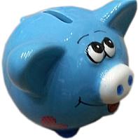 Копилка Подари Свинка Ska 1070-3 (голубой) -