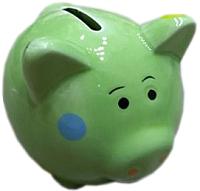 Копилка Подари Свинка Ska 1088-1 (зеленый) -