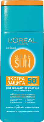 Молочко солнцезащитное L'Oreal Paris Sublime Sun экстра защита SPF 50+ (200мл)