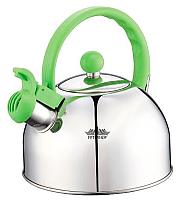 Чайник со свистком Peterhof PH-15641 (зеленый) -