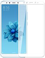 Защитное стекло для телефона Case Full Glue для Mi A2 (белый глянец) -