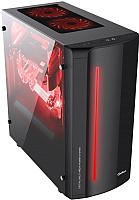 Корпус для компьютера FSP QD-702BGM 500W (черный/красный) -