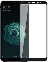 Защитное стекло для телефона Case Full Glue для Mi A2 (черный глянец) -