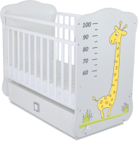 Детская кроватка СКВ 4 Жираф / 415001-2 (белый) -