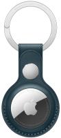 Чехол для беспроводной метки-трекера Apple AirTag Leather Key Ring Baltic Blue / MHJ23 -