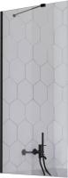 Стеклянная шторка для ванны Radaway Idea Black PNJ II 50 / 10001050-54-01 -