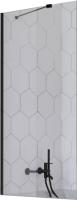 Стеклянная шторка для ванны Radaway Idea Black PNJ II 100 / 10001100-54-01 -