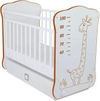 Детская кроватка СКВ Жираф / 411001-6-2 (белый) -