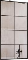 Стеклянная шторка для ванны Radaway Idea Black PNJ Factory 60 / 10001060-54-55 -
