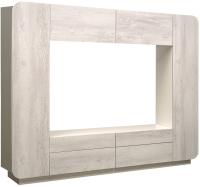 Стенка Олмеко Лаванда 2 (бетон пайн белый) -