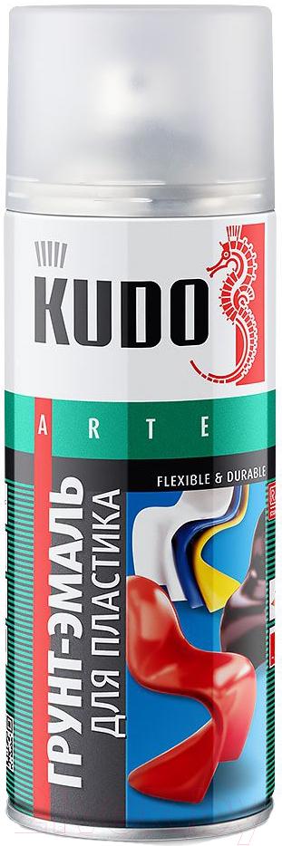 Купить Эмаль Kudo, Для пластика RAL 9005 (520мл, черный), Россия