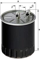 Топливный фильтр Hengst H140WK01 -