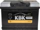 Автомобильный аккумулятор KBK 44 R низкий / 110444 (44 А/ч) -