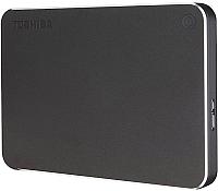 Внешний жесткий диск Toshiba Canvio Premium 1TB (HDTW210EB3AA) (темно-серый) -