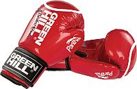 Боксерские перчатки Green Hill Panther BGP-2098 / 12oz (красный) -