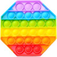 Антистресс Pop It Радужный восьмиугольник / 7004602 -
