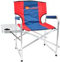 Кресло складное НПО Кедр Supermax со столиком с подстаканником / AKSM-04 (алюминий) -