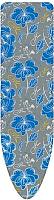 Чехол для гладильной доски Ника Ч1 (синие цветы на сером фоне) -
