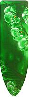 Чехол для гладильной доски Ника Ч1 (цветы на зеленом фоне) -
