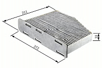 Салонный фильтр Bosch 1987432097 -