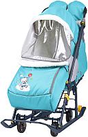 Санки-коляска Ника Наши детки 2 / НДТ2/4 (мишки, голубой) -