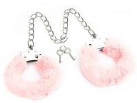 Наножники LoveToy Fetish Pleasure Fluffy Leg Cuffs / LV1502 (розовый) -