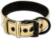 Ошейник LoveToy Bondage Fetish Black Matt Collar With Leash / LV761004 (золото) -