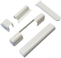 Комплект накладок на оконные петли Добрае акенца Для Roto / Накл5Р (5шт, белый) -