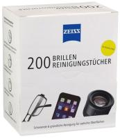 Комплект салфеток для очистки очковых линз Zeiss Универсальные чистящие (200шт) -