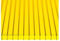 Сотовый поликарбонат КомфортПром Астра 2м 3.8мм (желтый) -