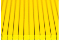 Сотовый поликарбонат КомфортПром Астра 3м 3.8мм (желтый) -