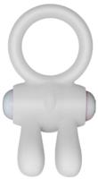 Эрекционное кольцо LoveToy Power Clit Cockring Rabbit / LV1422WHT -