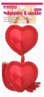 Набор пэстисов LoveToy Reusable Red Heart Tassels Nipple Pasties / LV763011 -