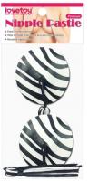 Набор пэстисов LoveToy Reusable Zebra Round Tassel Nipple Pasties / LV763010 -