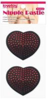 Набор пэстисов LoveToy Reusable Red Diamond Heart Nipple Pasties / LV763009 -