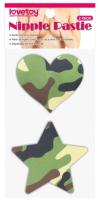 Набор пэстисов LoveToy Camo Stars and Heart Nipple Pasties / LV763007 -