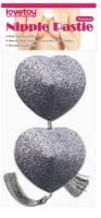 Набор пэстисов LoveToy Reusable Glitter Heart Tassel Nipple Pasties / LV763016 -