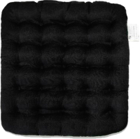Подушка на стул Smart Textile Уют 40x40 / T428 (лузга гречихи, черный) -