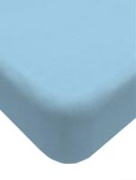 Простыня Lovkis Home Трикотаж 160x200x20 / 0010-8 (голубой) -