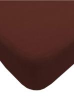 Простыня Lovkis Home Трикотаж 160x200x20 / Мр0010-21 (шоколад) -