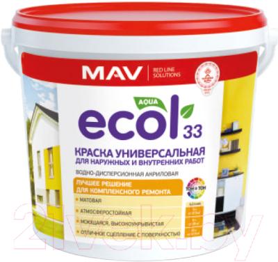 Краска MAV Ecol ВД-АК-1033 (5л, белый)