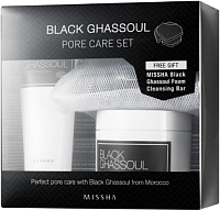 Набор косметики для лица Missha Black Ghassoul Pore Care Set -